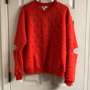 Joy lab orange sweatshirt